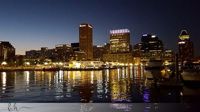 Night Baltimore Harborscape