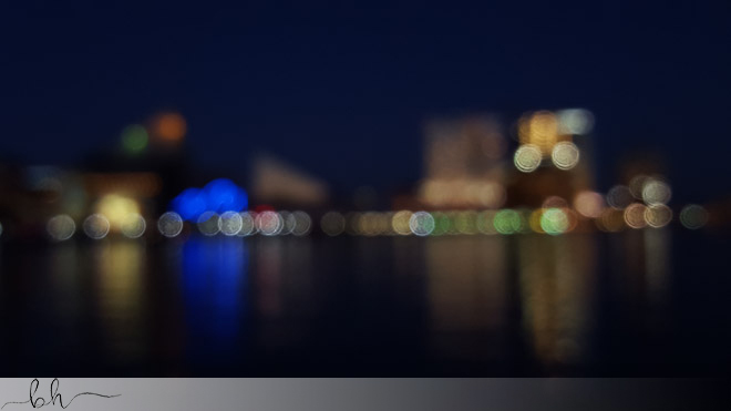 Baltimore Nighttime Unfocused Cityscape