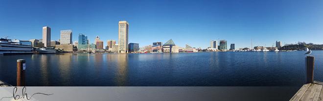 Inner Harbor, Baltimore Panorama