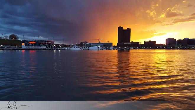 Sunset Storm, Inner Harbor, Baltimore, MD